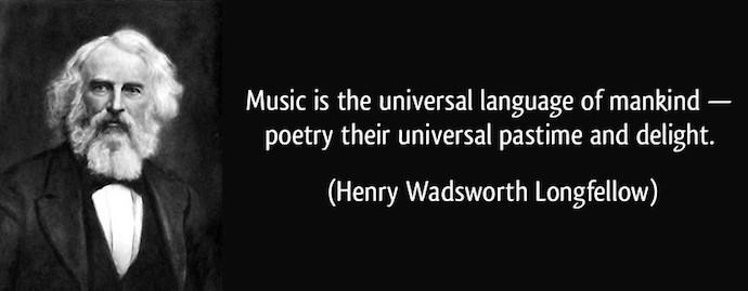 longfellow quote - universal language